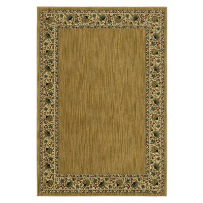 Liola Gold Area Rug Rug Size: Rectangle 53 x 76