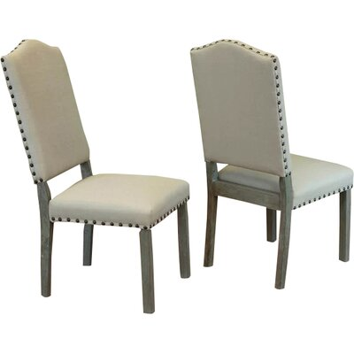 Devonshire Side Chair Upholstery: Ivory
