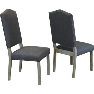 Devonshire Side Chair Upholstery: Charcoal Gray