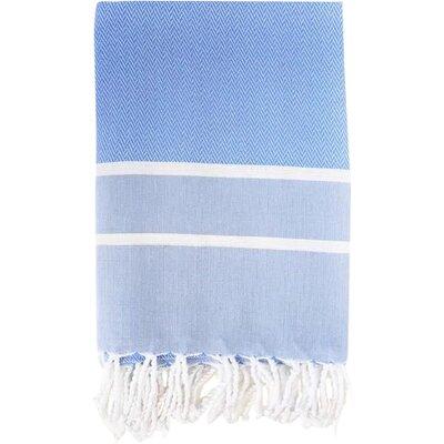 Sumner Stripe Bath Towel Color: Blue/White