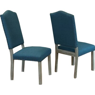 Devonshire Side Chair Upholstery: Teal