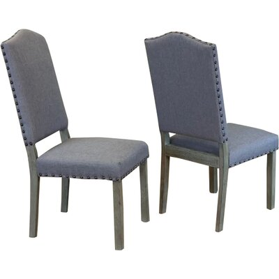 Devonshire Side Chair Upholstery: Grey