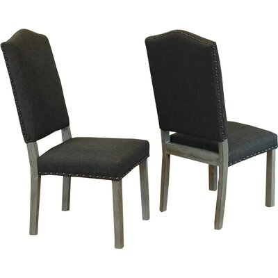 Devonshire Side Chair Upholstery: Smoke Gray