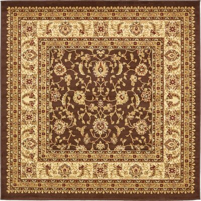 Borchert Mert Brown Area Rug Rug Size: Square 6