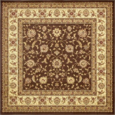 Mert Brown Area Rug Rug Size: Square 8