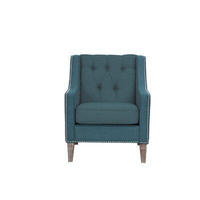 Kaven Linen Armchair Upholstery: Blue