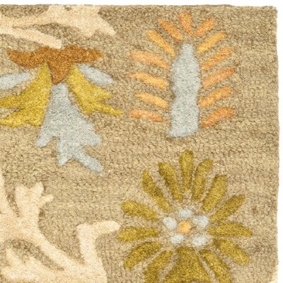 Parker Lane Hand-Tufted Wool Moss/Beige Area Rug Rug Size: Rectangle 2' x 3'