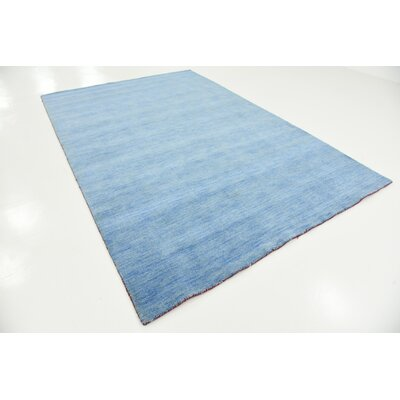 Langham Hand-Knotted Light Blue Area Rug Rug Size: Rectangle 6 7 x 9 10