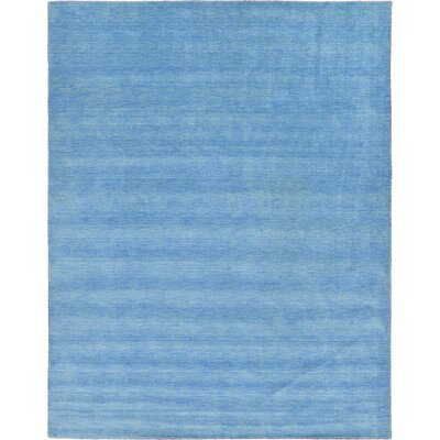 Langham Hand-Knotted Light Blue Area Rug Rug Size: Round 6 7