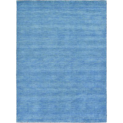 Langham Hand-Knotted Light Blue Area Rug Rug Size: Rectangle 5 3 x 7 5