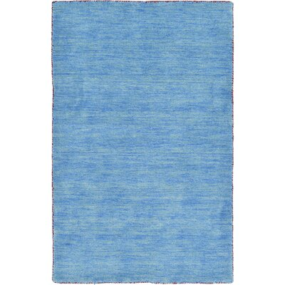 Langham Hand-Knotted Light Blue Area Rug Rug Size: Rectangle 3 3 x 5 3