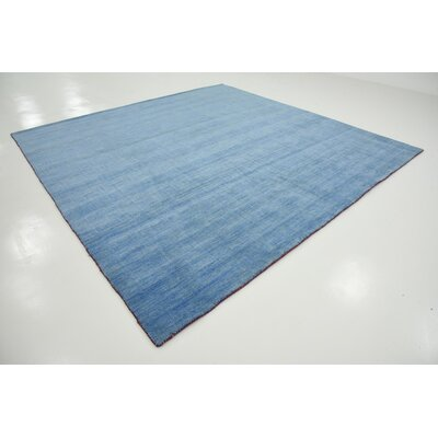 Langham Hand-Knotted Light Blue Area Rug Rug Size: Square 9 10