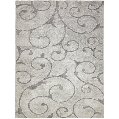 Kennon Floral Gray Area Rug Rug Size: Rectangle 8 x 10