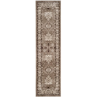 Asheville Taupe Area Rug Rug Size: Runner 22 x 16