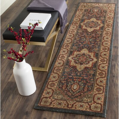 Alto Navy/Natural Area Rug Rug Size: Runner 22 x 8