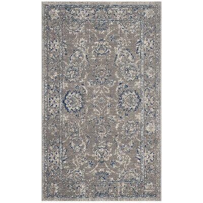Harwood Cotton Dark Gray/Blue Area Rug Rug Size: Rectangle 3 x 5