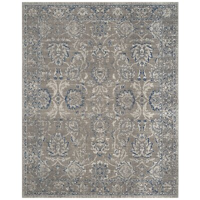 Harwood Cotton Dark Gray/Blue Area Rug Rug Size: Rectangle 8 x 10