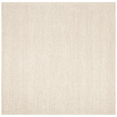 Bathild Hand-Tufted Ivory Area Rug Rug Size: Square 6