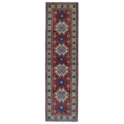 One-of-a-Kind Evert Traditional Kazak Hand-Woven Wool Red Area Rug