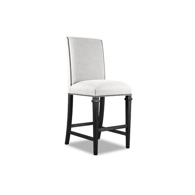 Rowen 26 Bar Stool Upholstery: White