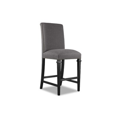 Rowen 26 Bar Stool Upholstery: Gray