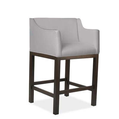 Auriville 30 Bar Stool Upholstery: Gray
