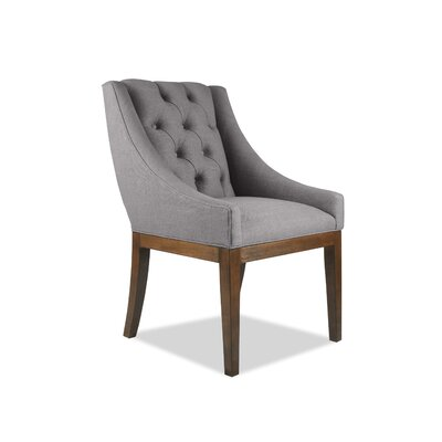 Haley Side Chair Upholstery: Gray, Finish: Cognac