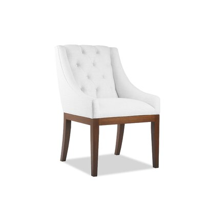 Haley Side Chair Upholstery: White, Finish: Gray
