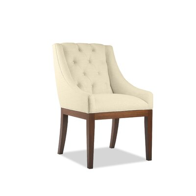 Haley Side Chair Upholstery: Sand, Finish: Cognac