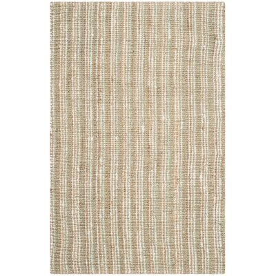 Bergeson Hand-Woven Sage/Natural Area Rug Rug Size: Rectangle 4 x 6