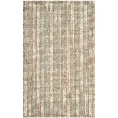 Bergeson Hand-Woven Sage/Natural Area Rug Rug Size: Rectangle 5' x 8'