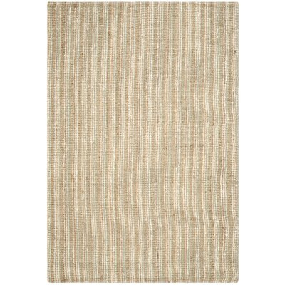 Bergeson Hand-Woven Sage/Natural Area Rug Rug Size: Rectangle 6 x 9