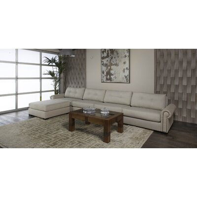 Lebanon Buttoned Sectional Upholstery: Sand, Orientation: Left Hand Facing