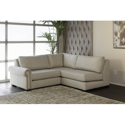 Lebanon Sectional Upholstery: Sand, Orientation: Right Hand Facing