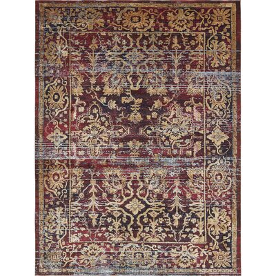 Rennick Red/Beige Area Rug Rug Size: Rectangle 33 x 53