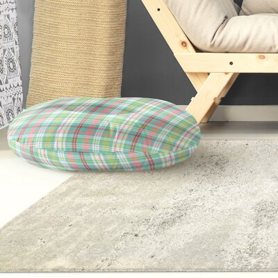Baillie Plaid Indoor/Outdoor Floor Pillow Size: 26 H x 26 W x 8 D