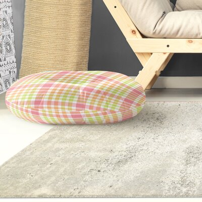 Mollien Plaid Indoor/Outdoor Floor Pillow Size: 26 H x 26 W x 8 D
