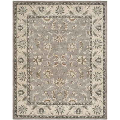 Heritage Gray/Beige Area Rug Rug Size: Rectangle 9 x 12