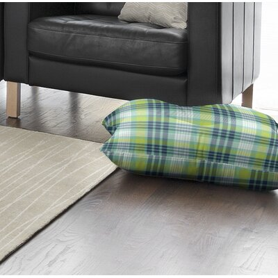 Vendome Plaid Indoor/Outdoor Floor Pillow Size: 26 H x 26 W x 8 D