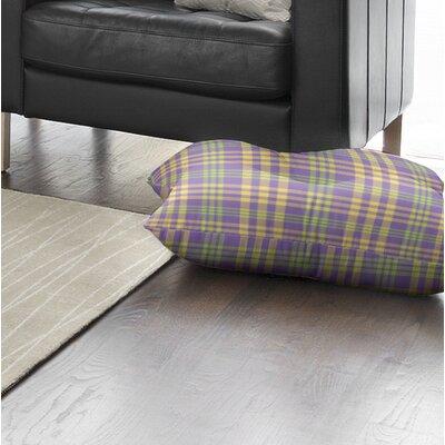 Turene Plaid Indoor/Outdoor Floor Pillow Size: 26 H x 26 W x 8 D