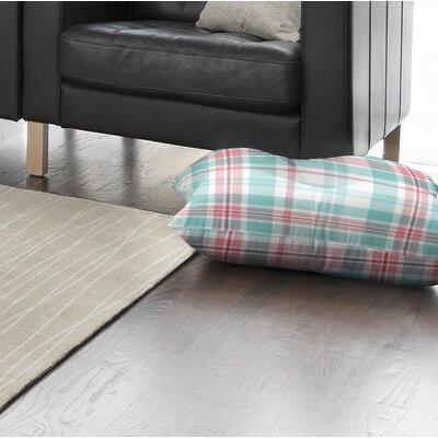 Belliere Plaid Indoor/Outdoor Floor Pillow Size: 26 H x 26 W x 8 D