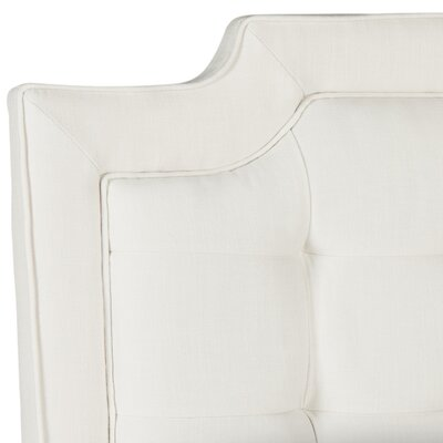 Findlay Upholstered Panel Headboard Size: Full, Upholstery: Creme