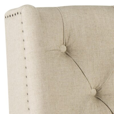 Trenton Upholstered Wingback Headboard Size: Twin, Color: Hemp, Upholstery: Linen