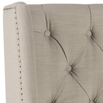 Trenton Upholstered Wingback Headboard Size: Twin, Color: Taupe, Upholstery: Polyester