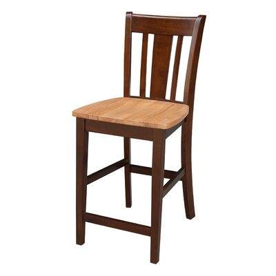 Draper 24 Bar Stool Finish: Cinnamon Espresso