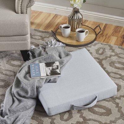 Garlan Linen Floor Pillow Color: Chambray