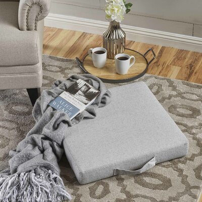 Garlan Linen Floor Pillow Color: Charcoal