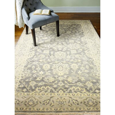 Crawley 100% Wool Hand Woven Gray Area Rug Rug Size: Rectangle�59 x 89