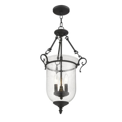 Sackler 3-Light Foyer Pendant Finish: Black