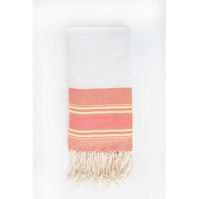 Hudgens Honeycomb Weave Bath Towel Color: Sunny